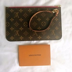 Louis Vuitton Neverfull MM GM monogram Pouch Pink